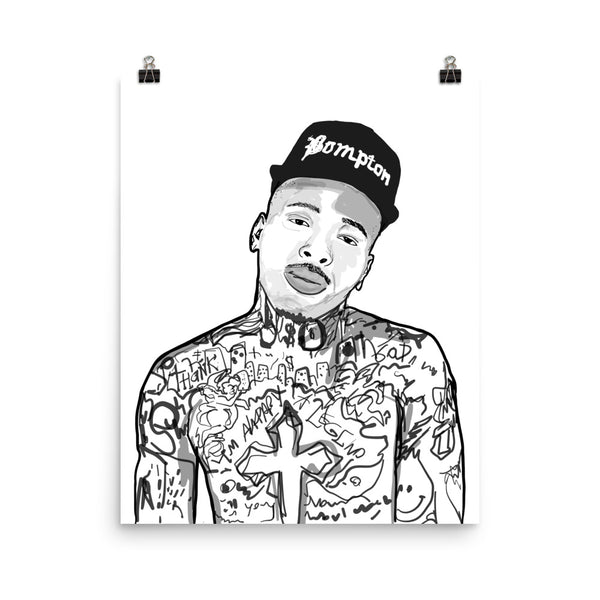 YG Bompton Art Poster (6 sizes) // Babes & Gents // www.babesngents.com
