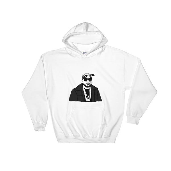 Young Jeezy White Hoodie Sweater (Unisex), Babes & Gents, Ottawa