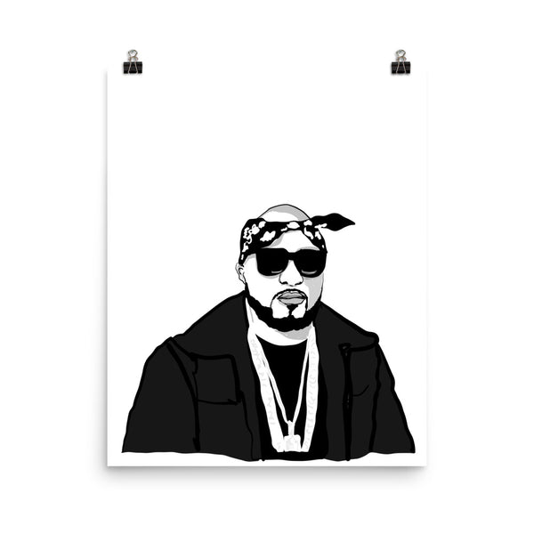 Young Jeezy Art Poster (6 sizes) // Babes & Gents // www.babesngents.com