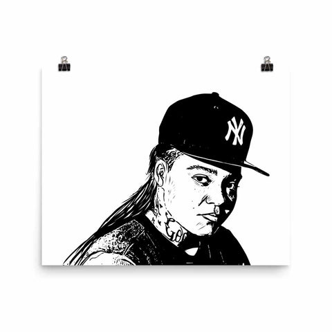Young M.A. Art Poster (8x10 to 24x36)
