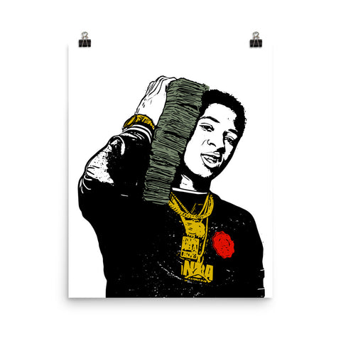 YoungBoy Never Broke Again Art Poster (8x10 to 24x36)