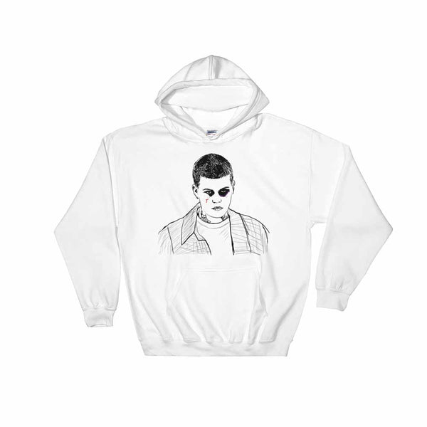 Yung Lean White Hoodie Sweater (Unisex), Babes & Gents, Ottawa