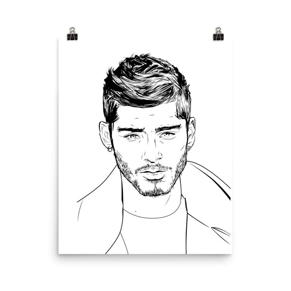Zayn Malik Art Poster (6 sizes) // Babes & Gents // www.babesngents.com