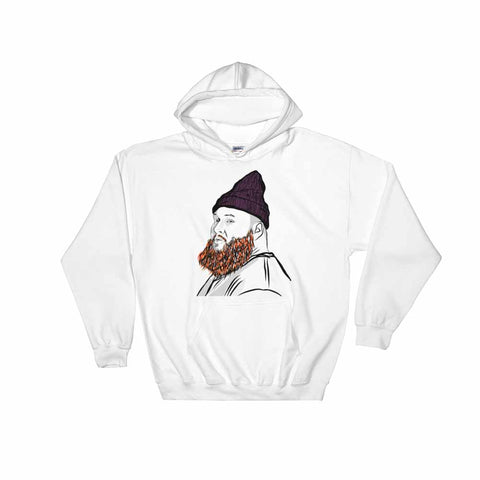 Action Bronson White Hoodie Sweater (Unisex)