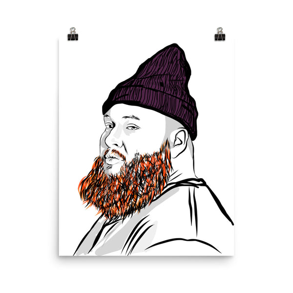 Action Bronson Art Poster (6 sizes) // Babes & Gents // www.babesngents.com