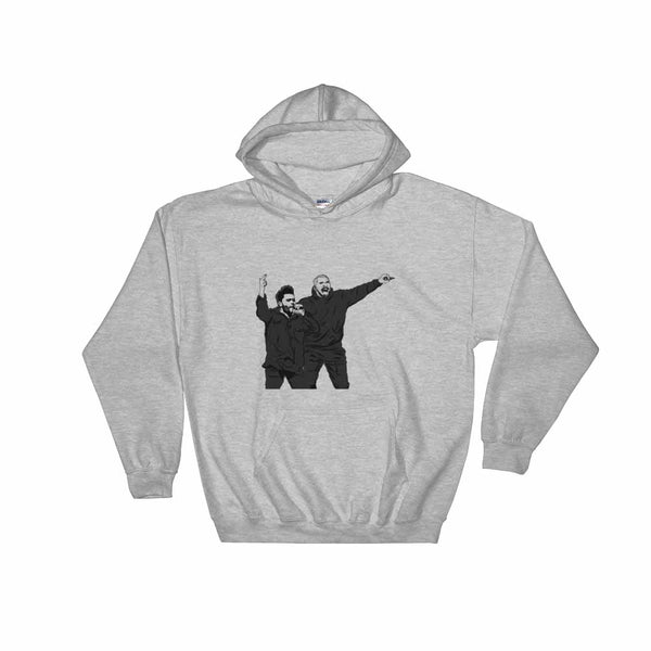 The Weeknd and Drake Grey Hoodie Sweater (Unisex), Babes & Gents, Ottawa