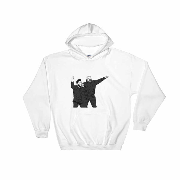 The Weeknd and Drake White Hoodie Sweater (Unisex), Babes & Gents, Ottawa