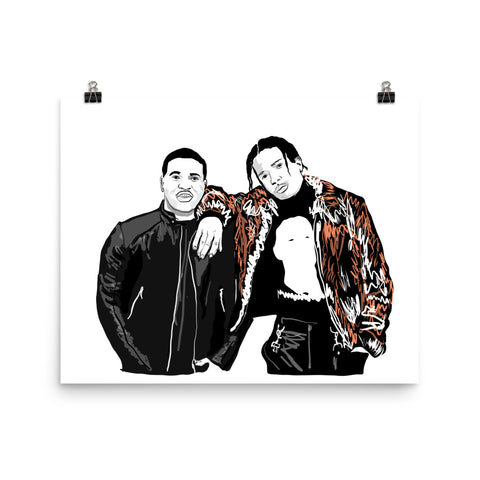 ASAP Rocky and ASAP Ferg A$AP Art Poster (8x10 to 24x36)