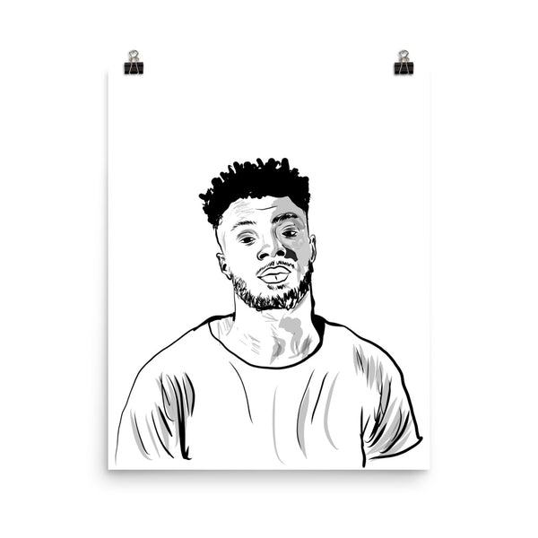 Isaiah Rashad Art Poster (6 sizes) // Babes & Gents // www.babesngents.com