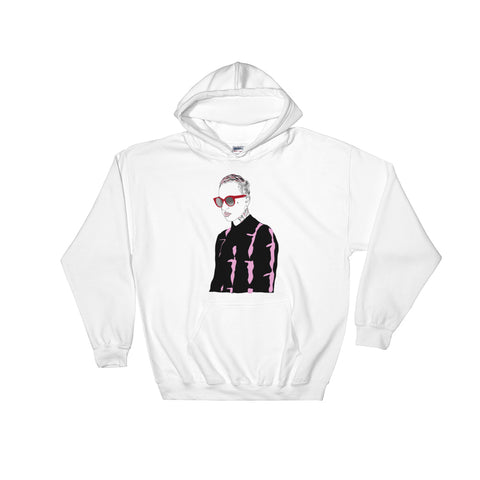 Black Bear White Hoodie Sweater (Unisex)