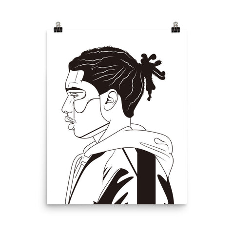 ASAP Rocky Art Poster (8x10 to 24x36)