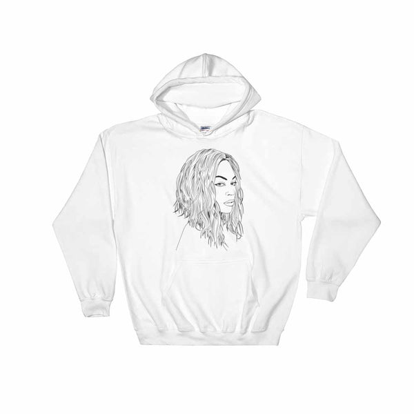 Beyonce White Hoodie Sweater (Unisex), Babes & Gents, Ottawa