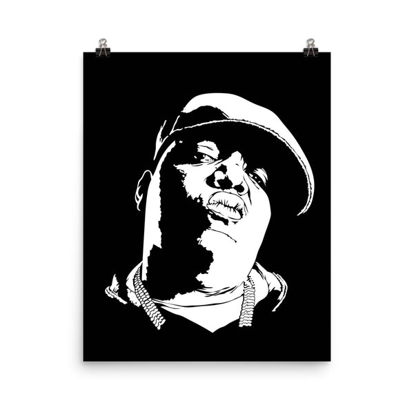 The Notorious B.I.G. Art Poster (6 sizes) // Hip Hop Biggie Smalls big juicy // Babes & Gents // www.babesngents.com