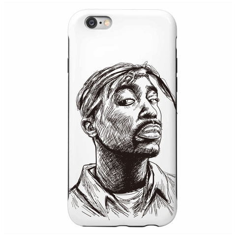 Tupac Shakur Apple IPhone 4 5 5s 6 6s Plus Galaxy Case // Hip Hop Thug Life California 2