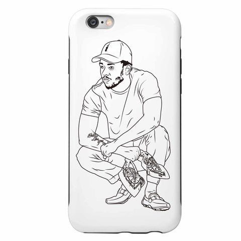Kendrick Lamar Apple IPhone 4 5 5s 6 6s Plus Galaxy Case 2 // alright to pimp a butterfly king kunta i tde kdot
