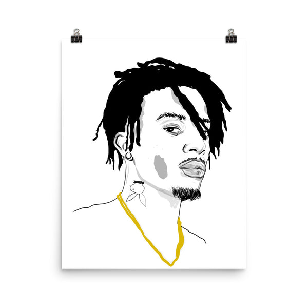 Playboi Carti Art Poster (6 sizes) // Babes & Gents // www.babesngents.com