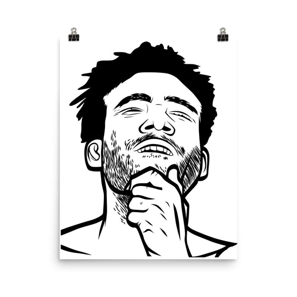 CHILDISH GAMBINO 11x17 Art Poster, Babes & Gents, www.babesngents.com