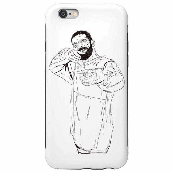 Drake 6 God Shooter Apple IPhone 4 5 5s 6 6s Plus Galaxy Case / Jumpman Hotline Bling Drizzy Woes Views what a time Future / Babes & Gents / www.babesngents.com