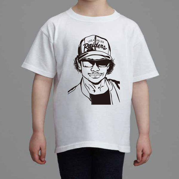 Eazy-E NWA Kids White Tee (Unisex) // eazy e dr dre ice cube Hip Hop // Babes & Gents // www.babesngents.com