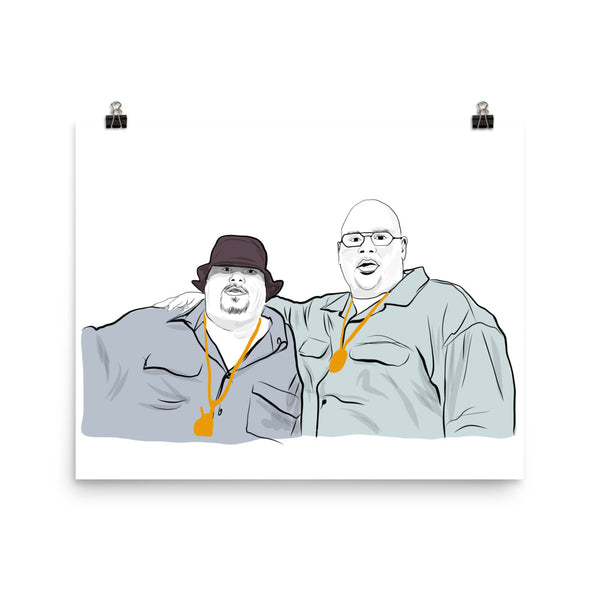 Fat Joe and Big Pun Art Poster (6 sizes) // Babes & Gents // www.babesngents.com