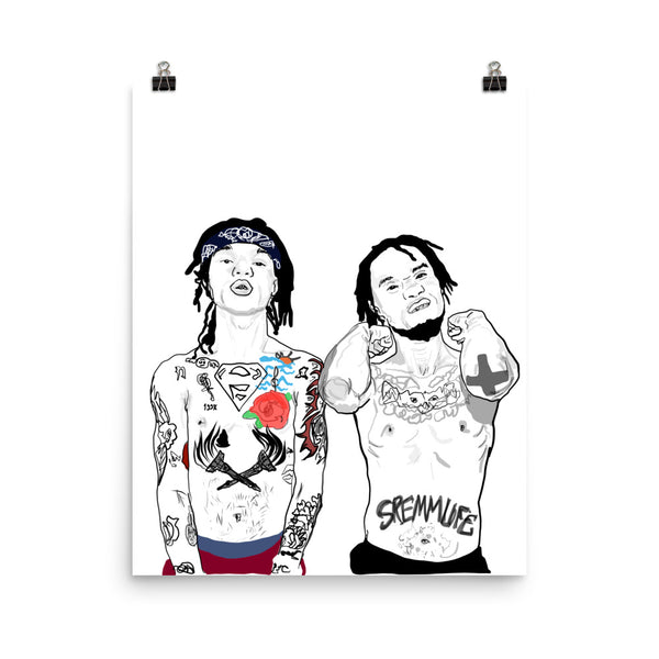 Rae Sremmurd Art Poster (6 sizes) // Babes & Gents // www.babesngents.com