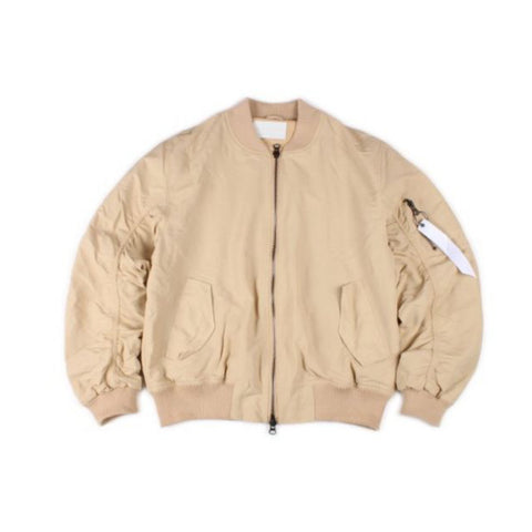 Khaki Light Brown Bomber Jacket (Unisex)
