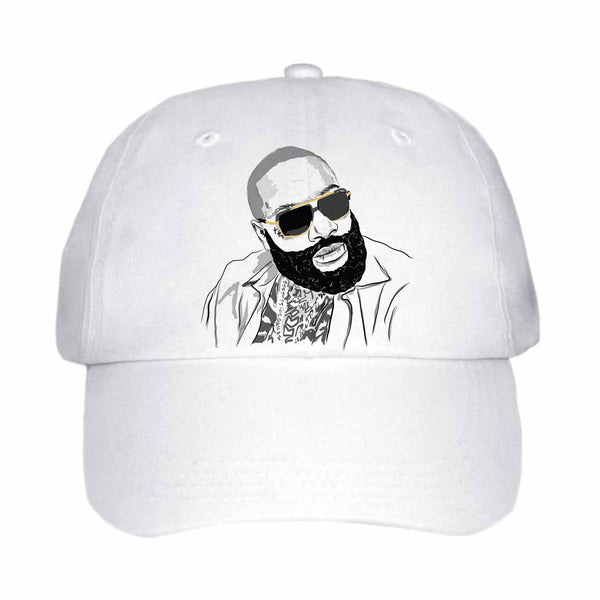 Rick Ross White Hat/Cap