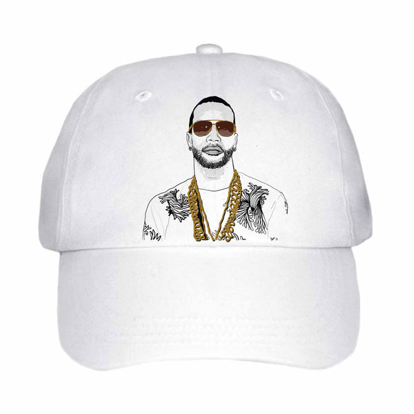 Juicy J White Hat/Cap