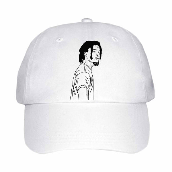 Denzel Curry White Hat/Cap