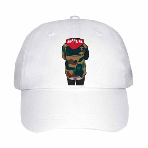Supreme Bape White Hat/Cap