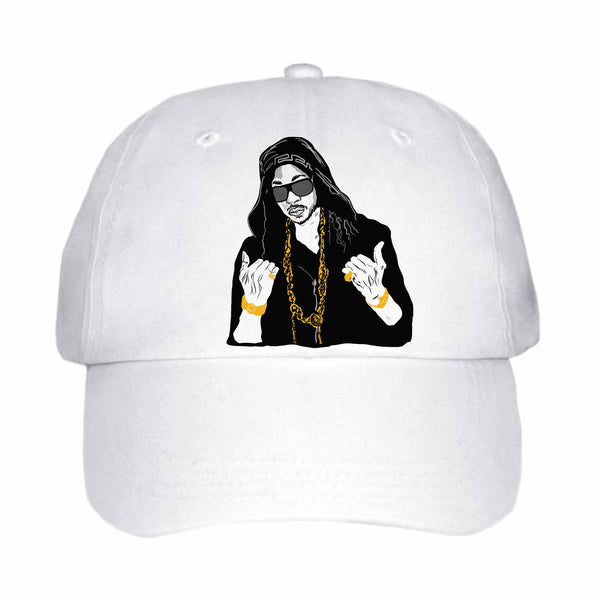 2 Chainz White Hat/Cap