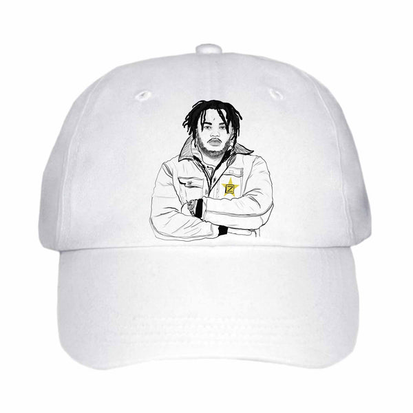 Tee Grizzley White Hat/Cap