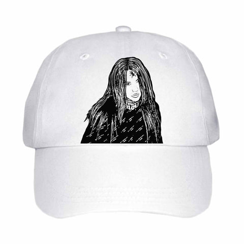 Billie Eilish White Hat/Cap