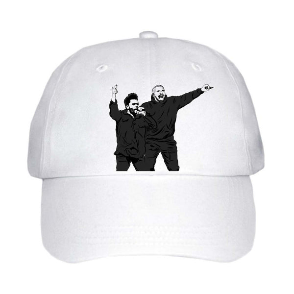 The Weeknd and Drake White Hat/Cap