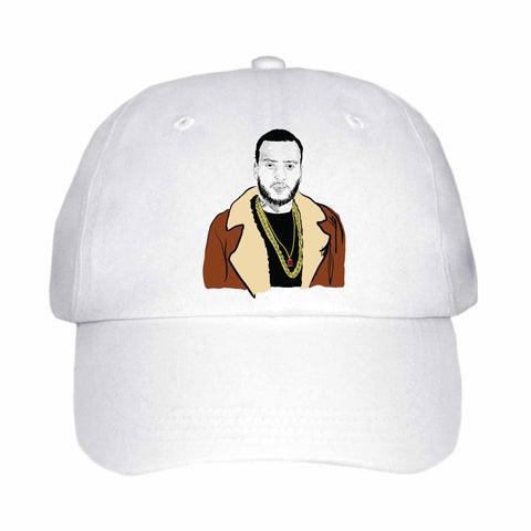 French Montana White Hat/Cap