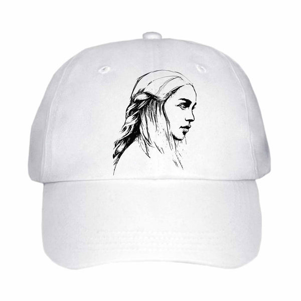 Emilia Clarke Game of Thrones Khaleesi Mother of Dragons White Hat/Cap ,Babes & Gents, Ottawa, www.babesngents.com