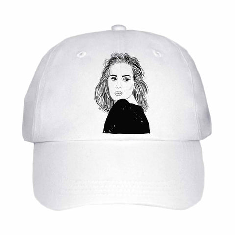 Adele White Hat/Cap
