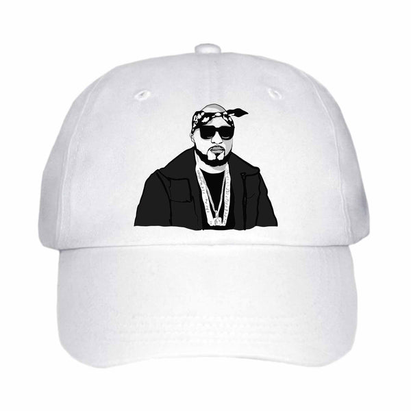 Young Jeezy White Hat/Cap
