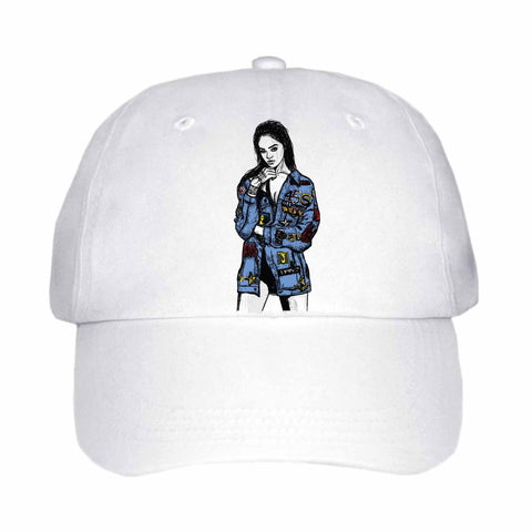 Rihanna Blue White Hat/Cap