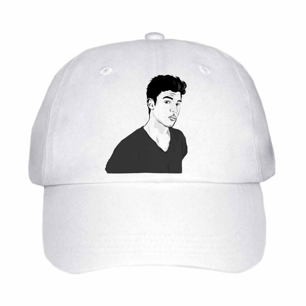 Shawn Mendes White Hat/Cap ,Babes & Gents, Ottawa, www.babesngents.com