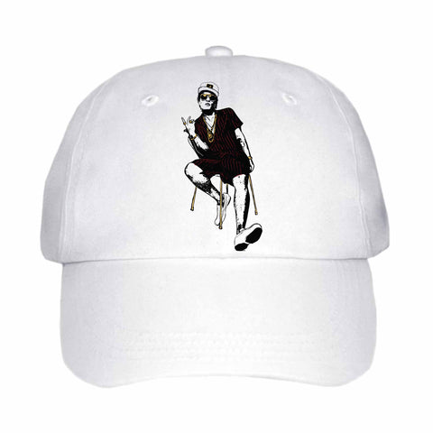 Bruno Mars White Hat/Cap