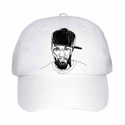 50 cent White Hat/Cap