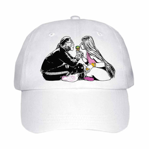 Tekashi 69 6ix9ine and Nicki Minaj Fefe White Hat/Cap