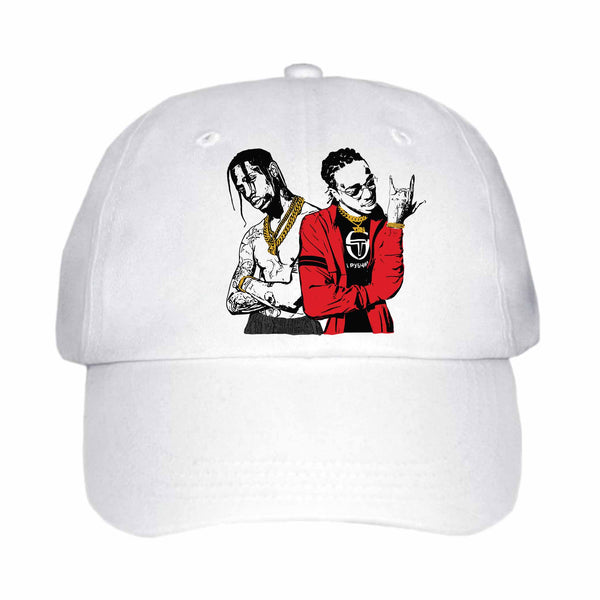 Huncho Jack Quavo and Travis Scott White Hat/Cap ,Babes & Gents, Ottawa, www.babesngents.com