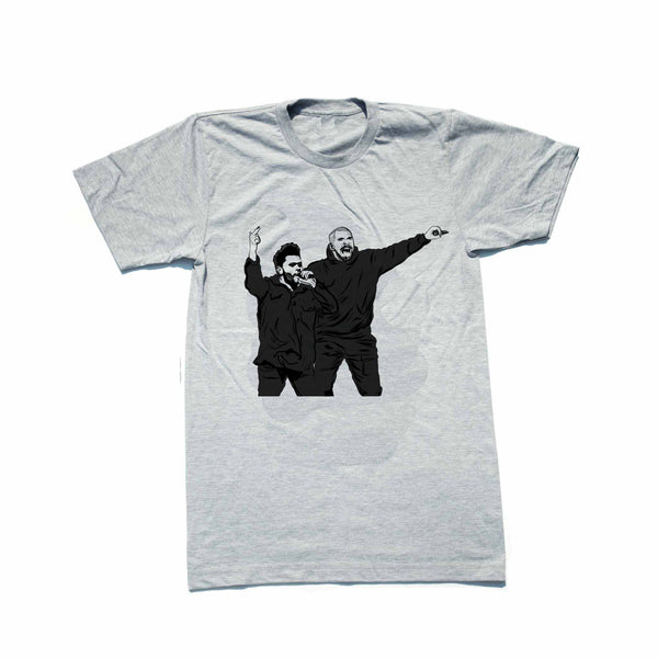 The Weeknd and Drake Grey Tee (Unisex) // T-shirt // Babes & Gents // www.babesngents.com