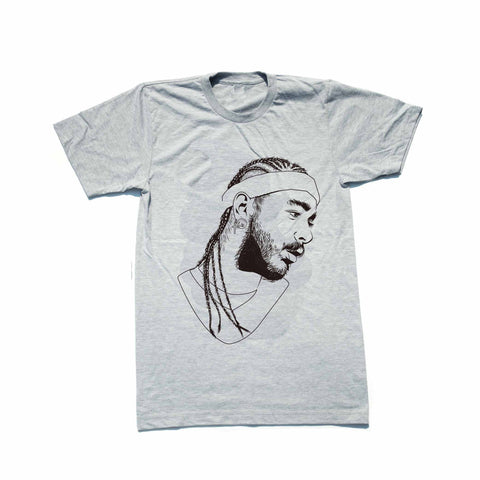 Post Malone White Iverson Stoney Heather Grey Tee (Unisex)