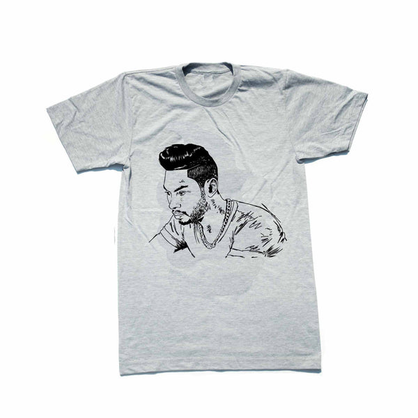 Miguel Grey Tee (Unisex) // T-shirt // Babes & Gents // www.babesngents.com
