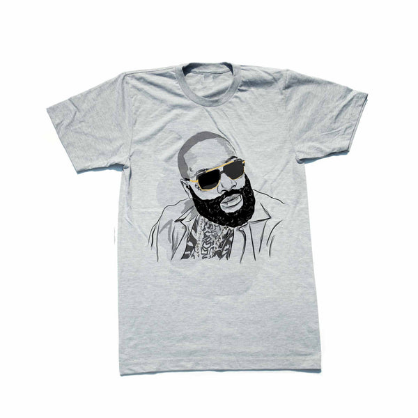 Rick Ross Grey Tee (Unisex) // T-shirt // Babes & Gents // www.babesngents.com
