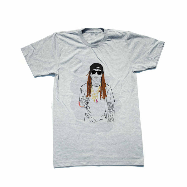 Lil Wayne Tunchi Grey Tee (Unisex) // T-shirt // Babes & Gents // www.babesngents.com
