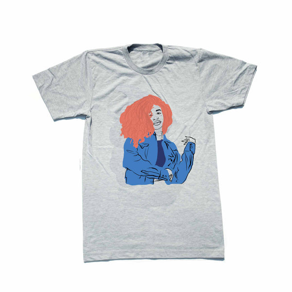 SZA Grey Tee (Unisex) // T-shirt // Babes & Gents // www.babesngents.com